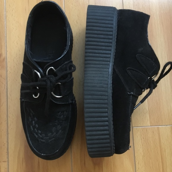 14343cb32c5 Krush Shoes - Platform Vegan Suede Creepers Nasty Gal Goth Punk